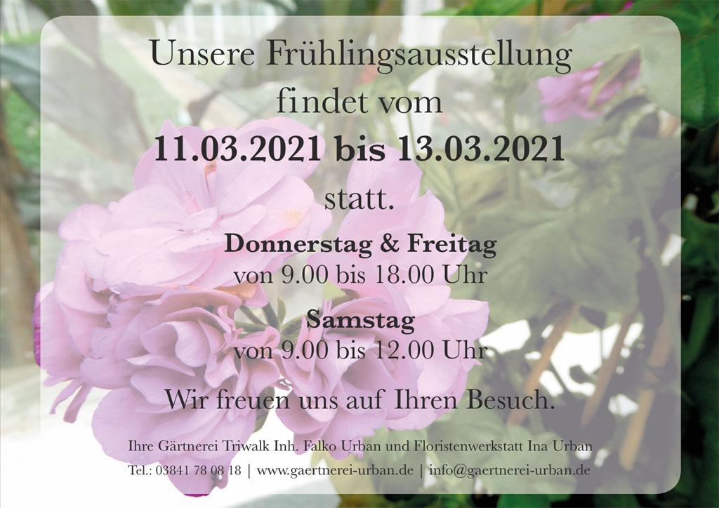 Frühlingsausstellung Gärtnerei Urban